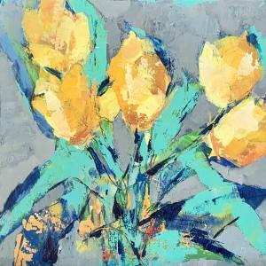 "Barbara Shore A Beautiful Gift 12"" x 12"" Mixed Media on wood Panel  $670.00"