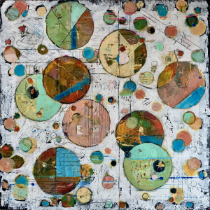 """Barbara Shore Particulates 40"""" x 40"""" Mixed Media on Cradled Board $2320.00"""