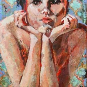 "Barbara-Shore-36""-x-24"" Mixed-Media-on-Cradled-Board $1500.00 Canvas Gallery Toronto SOLD"