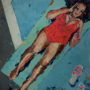 "Barbara Shore Just Dandy 36""x-36"" Mixed Media on Canvas  $2090.00"