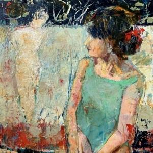 "Barbara Shore Manifestation Mixed Media on Canvas 30""x-24""  $1560.00"