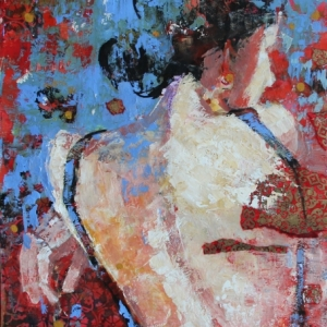 "Barbara Shore Time Passes By 24"" x 18""  Mixed Media on Paper $970.00"