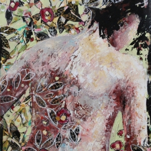 "Barbara Shore Wildest Dream 24"" x 19"" Mixed Media on Paper $990.00"