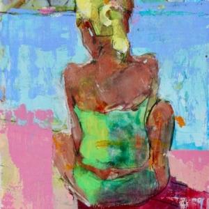 """Barbara Shore  8"""" x 6""""  Mixed Media on Paper $350.00"""
