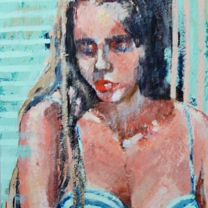 "Barbara Shore. 36"" x 24""  Mixed Media on Cradled Board $1500.00 SOLD"