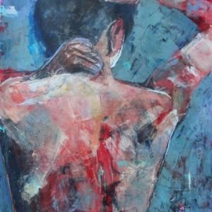 "Barbara Shore Untitled 24' x 19"" Mixed Media on Bristol Paper $990.00"