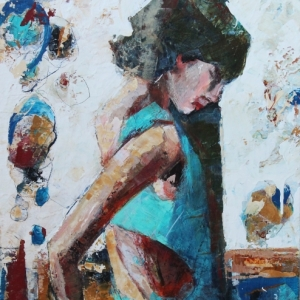 "Barbara Shore Complicated 24"" x 20"" Mixed Media on Canvas $1010.00"