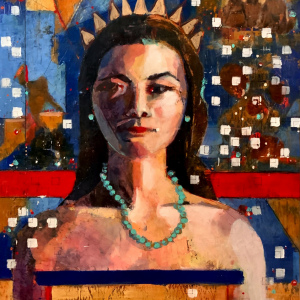 "Barbara Shore Lineal 30"" x 24"" Mixed Media on Cradled  Board  $1560.00@CanvasGalleryToronto"