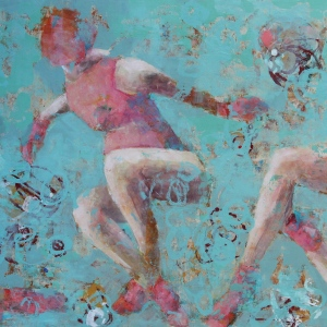 "Barbara Shore Lost in Time Mixed Media on Cradled Board 36"" x 80"" $2552.00"