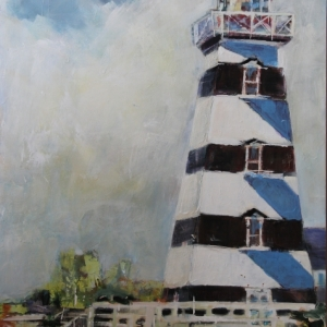 Barbara Shore West Point PEI 30%22 x 24%22 Mixed Media on Cradled Board