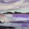 Barbara Shore Passing Storm 12x17 Acrylic on Terraskin